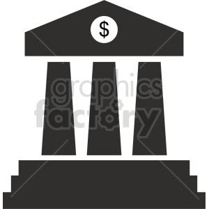 bank pillars vector clipart 3