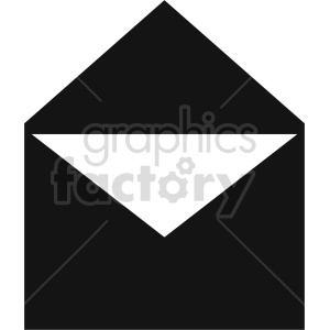 open envelope vector clipart clipart. Commercial use image # 413518