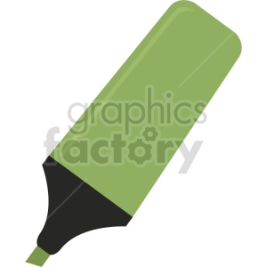 green highlighter vector clipart