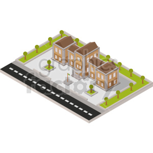isometric school building vector graphic clipart clipart. Commercial use image # 413648