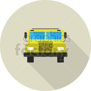 school bus vector icon graphic clipart 3