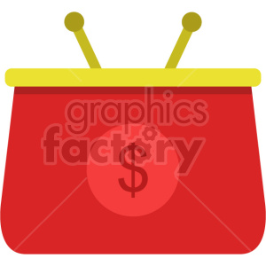 coin purse vector icon graphic clipart no background clipart. Commercial use image # 413668