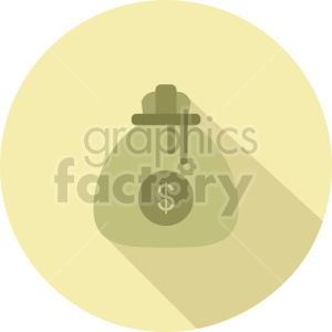 money bag vector icon graphic clipart 2
