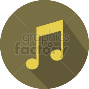 music note vector icon graphic clipart 2
