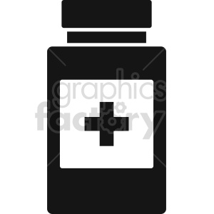 medicine bottle vector icon graphic clipart 3 clipart. Commercial use image # 413785