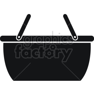 basket vector icon graphic clipart 5