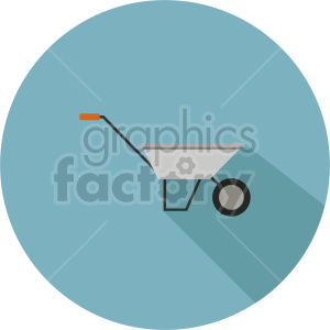 wheelbarrow vector icon graphic clipart circle background clipart. Commercial use image # 413855