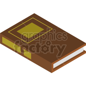 isometric law books vector icon clipart 3