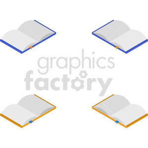 isometric books vector icon clipart 10 clipart. Commercial use image # 413972