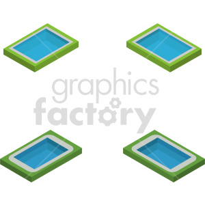 isometric land park vector icon clipart 2 clipart. Commercial use image # 413998