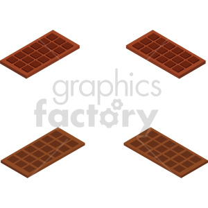 isometric chocolate vector icon clipart set clipart. Royalty-free image # 414068