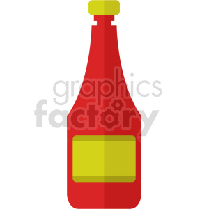 ketchup bottle vector icon clipart clipart. Commercial use image # 414083