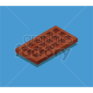 isometric chocolate vector icon clipart 3