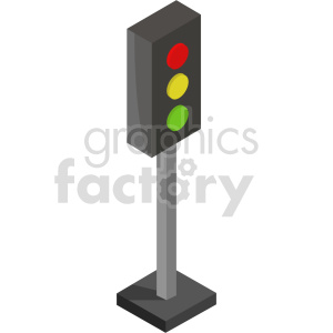 isometric traffic light vector icon clipart 3 clipart. Commercial use image # 414129