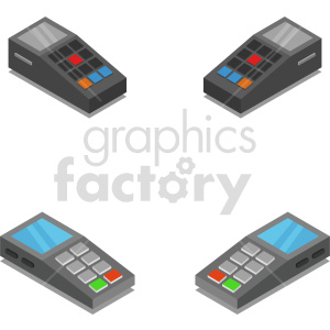 isometric pos payment system vector icon clipart 1 clipart. Commercial use image # 414138