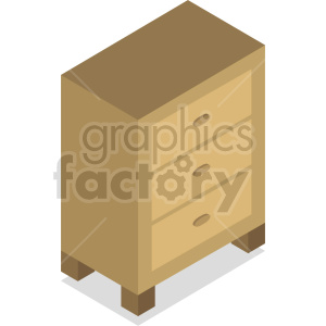 isometric dresser vector icon clipart 7 clipart. Royalty-free image # 414189