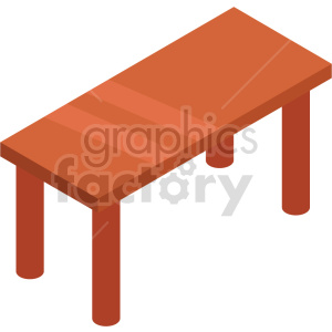 isometric kitchen table vector icon clipart 6 clipart. Commercial use image # 414195