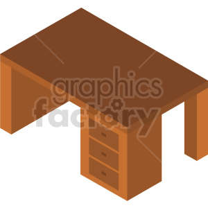 isometric desk vector icon clipart 3 clipart. Commercial use image # 414215