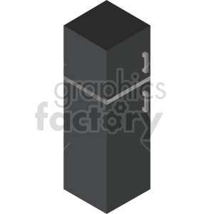 isometric black refrigerator vector icon clipart clipart. Commercial use image # 414224