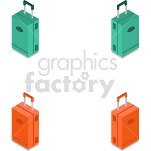 isometric travel bag vector icon clipart 4 clipart. Commercial use image # 414259
