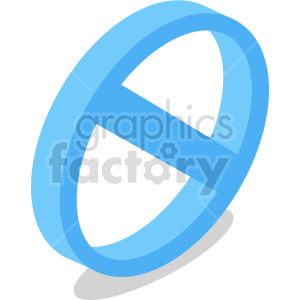 isometric ban cancel symbol vector icon clipart 5