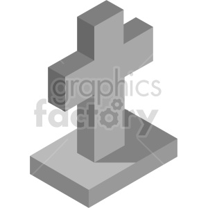 isometric tombstone vector icon clipart 5 clipart. Royalty-free image # 414358