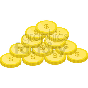 gold coins vector icon clipart 5 clipart. Commercial use image # 414387