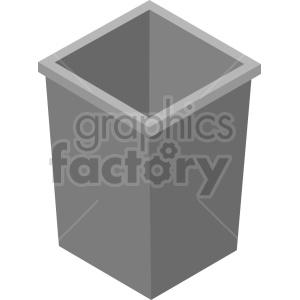 isometric trash vector icon clipart 2