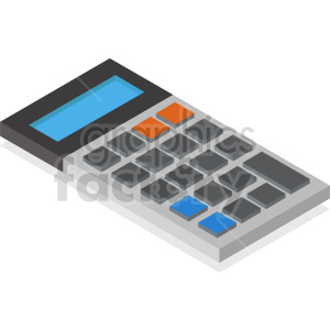 isometric calculators vector icon clipart 20 clipart. Commercial use image # 414425