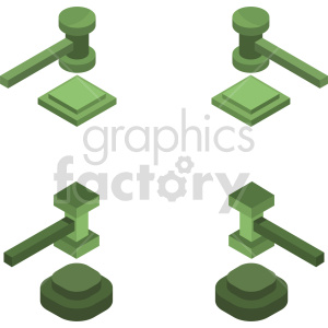 isometric gavel vector icon clipart 2 clipart. Commercial use image # 414430