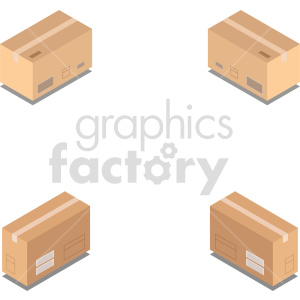 isometric boxes vector icon clipart 6 clipart. Commercial use image # 414457