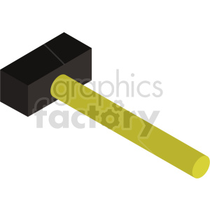 isometric hammer vector icon clipart 2 clipart. Commercial use image # 414480