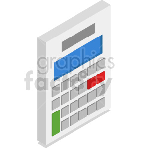 isometric calculators vector icon clipart 4 clipart. Commercial use image # 414481