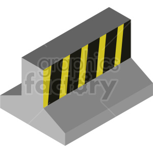 isometric road barrier vector icon clipart 3 clipart. Commercial use image # 414492