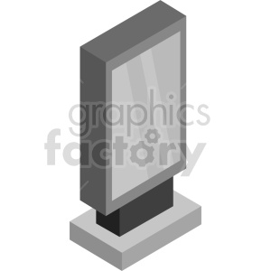 isometric billboard vector icon clipart 2 clipart. Commercial use image # 414497
