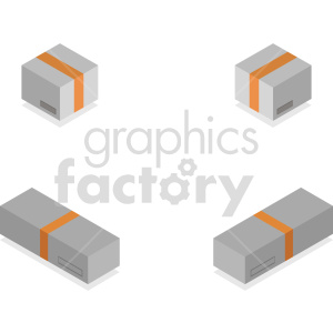 isometric boxes vector icon clipart clipart. Commercial use image # 414499