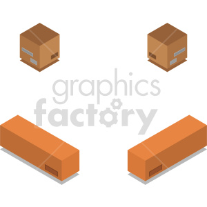 isometric shipping boxes vector icon clipart clipart. Commercial use image # 414507