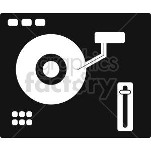 isometric record turn table vector icon clipart 4