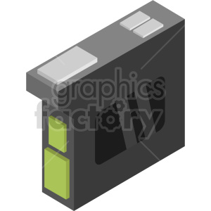 isometric ink cartridge vector icon clipart 3 clipart. Commercial use image # 414549