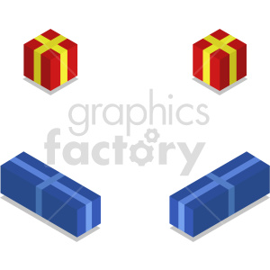isometric presents vector icon clipart 1 clipart. Commercial use image # 414603