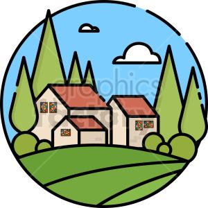clipart - littlehouse vector clipart icon.