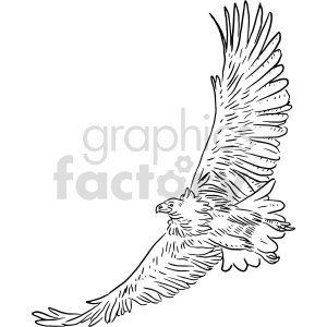 eagle black and white clipart