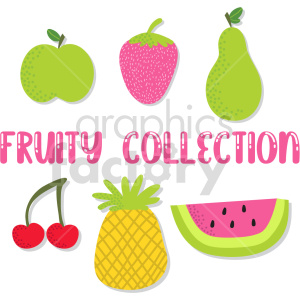 Fruity collection vector clipart clipart. Commercial use image # 414885