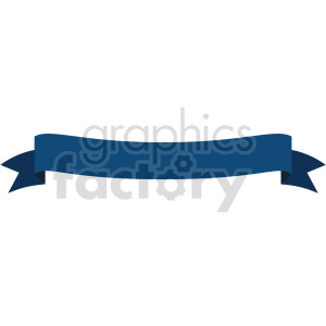 dark blue curved ribbon design vector clipart clipart. Commercial use image # 414989