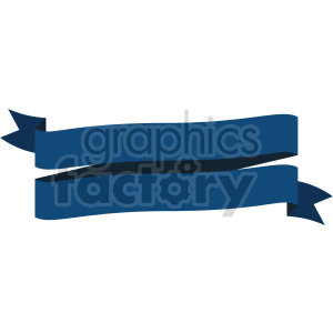 double blue ribbon design vector clipart clipart. Commercial use image # 414994