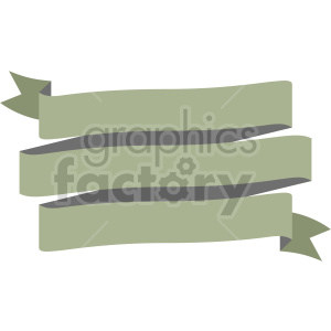 triple ribbon design vector clipart clipart. Commercial use image # 414998