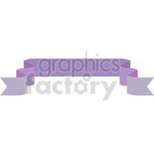 clipart - purple ribbon design vector clipart.