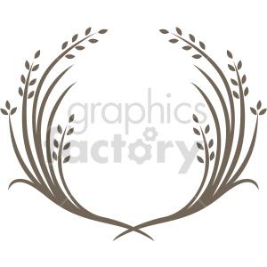 wheat laurel wreath design vector clipart clipart. Commercial use image # 415004