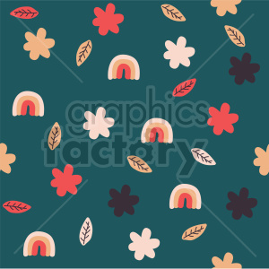 seamless fall flower background graphic clipart. Commercial use image # 415115