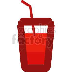 red drink with straw vector clipart clipart. Commercial use image # 415149